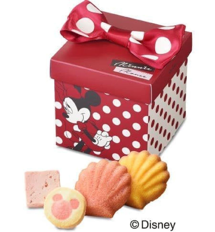 「<ミニーマウス>ギフトボックス」は「ミニーマウス」がデザインされたパッケージに詰め合わせたひなまつり限定ギフト