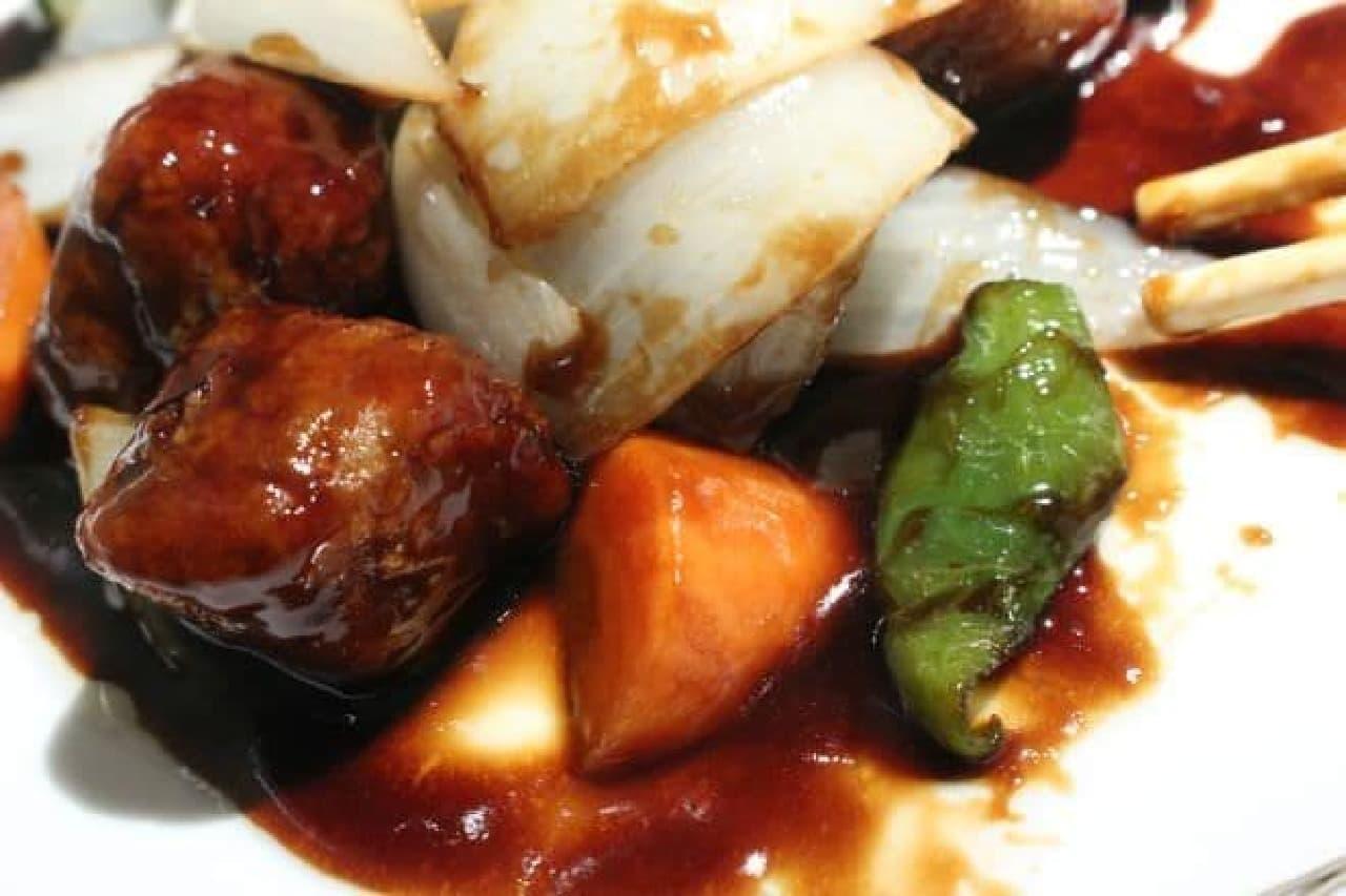 中国飯店の特選ランチ「黒酢の酢豚」-