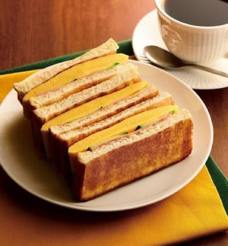 カフェ・ド・クリエ「トーストサンド 厚焼きたまご」