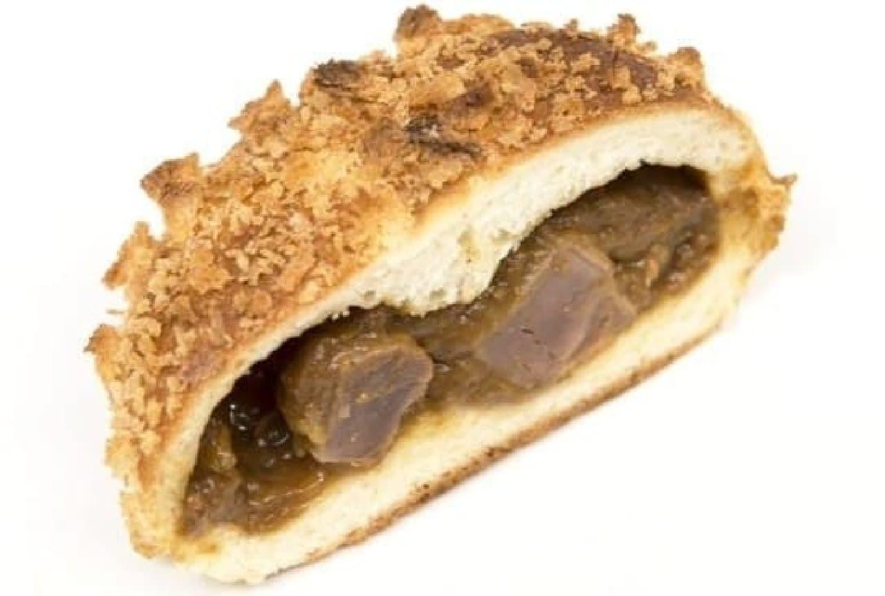 ゆういちのパン屋Mush「尾道砂ずりコリコリカレーパン」