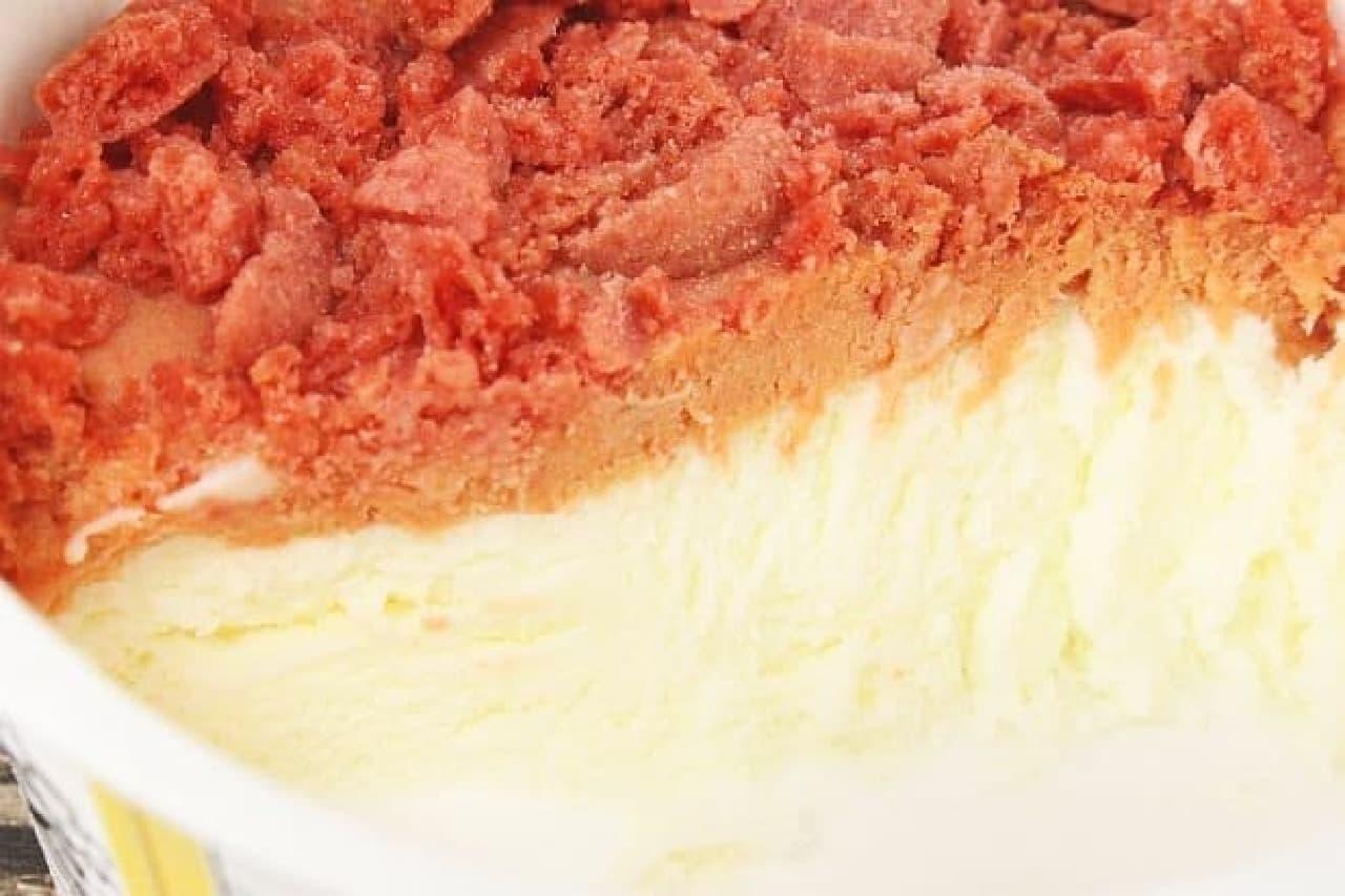 グリコ「デリチェ<苺チーズケーキ>」