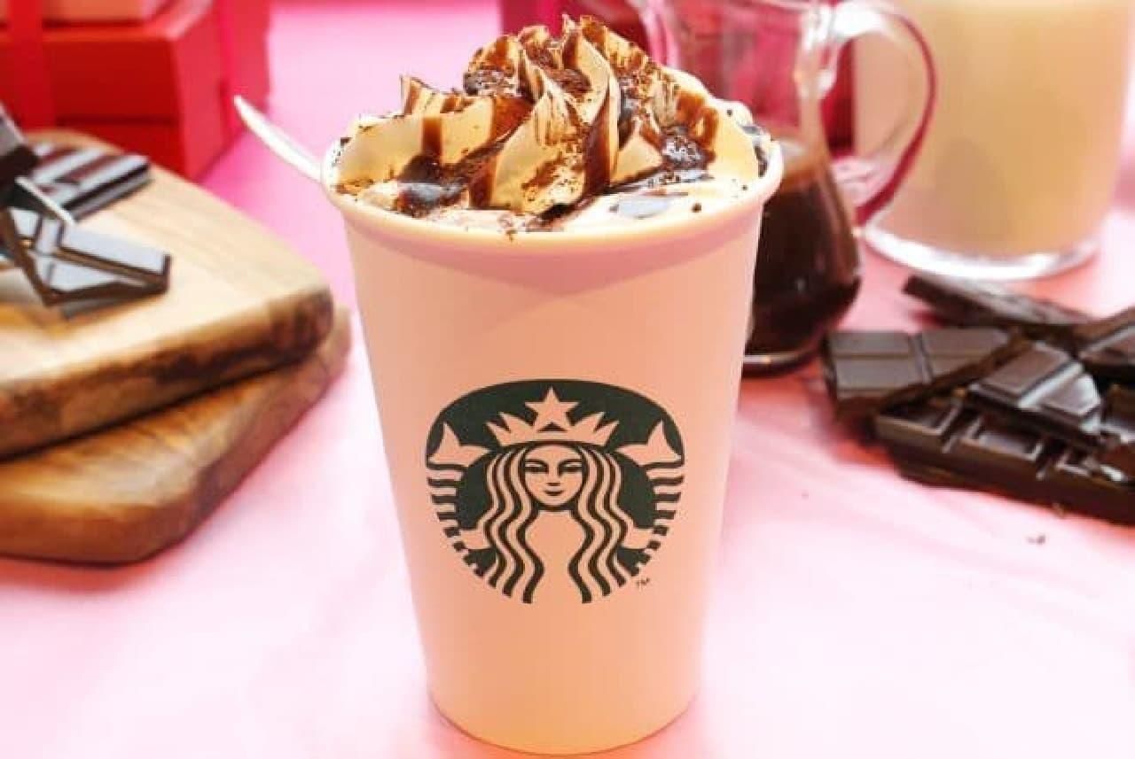「バレンタイン チョコホリック ココ」は、コーヒーチョコレートソースにたっぷりのミルクを注ぎ仕上げた香り高いスペシャルなココア