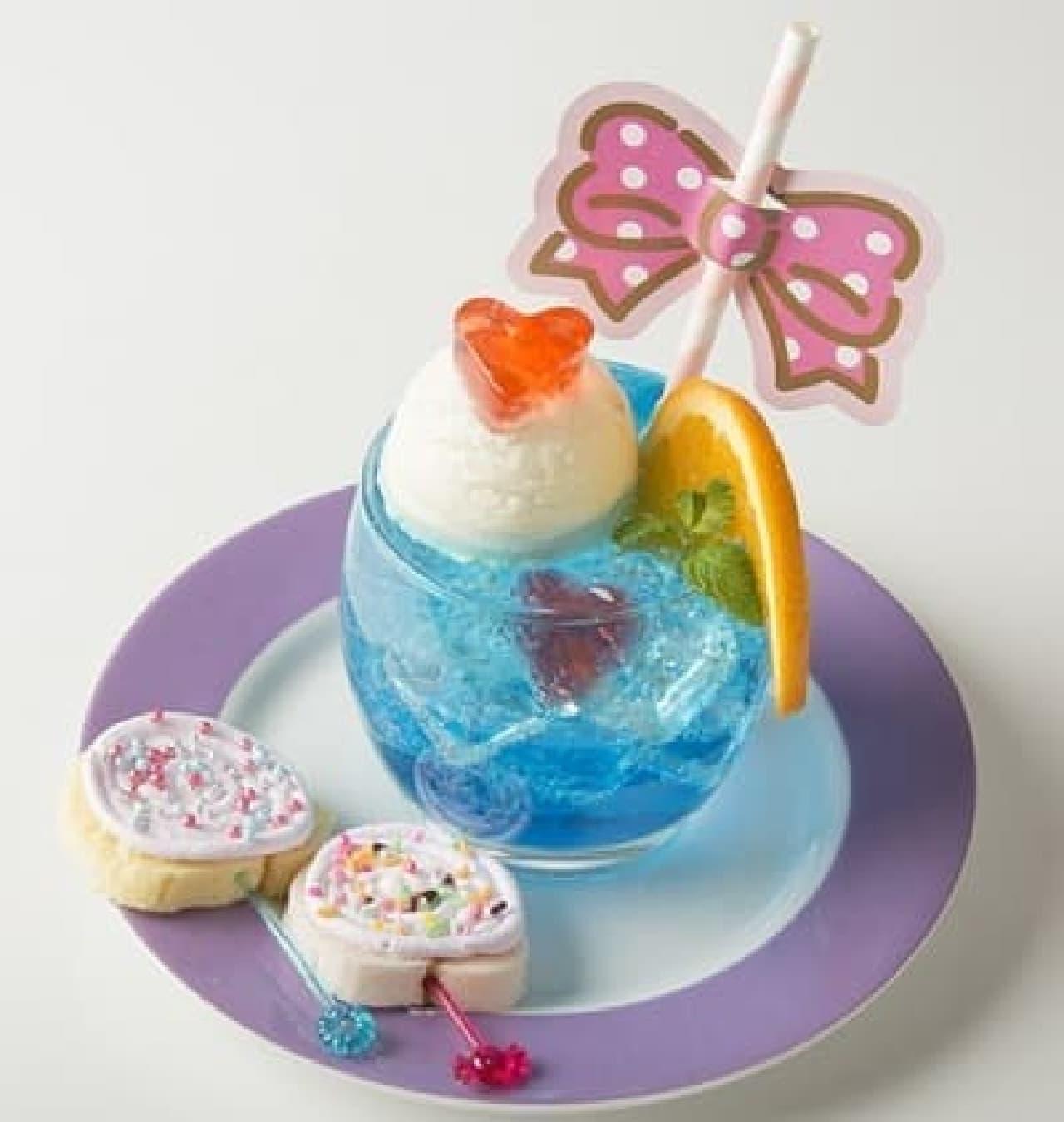 サンリオ キャラクターズ ラブリーカフェ「フレッシュパンチなゼリーinクリームソーダ」