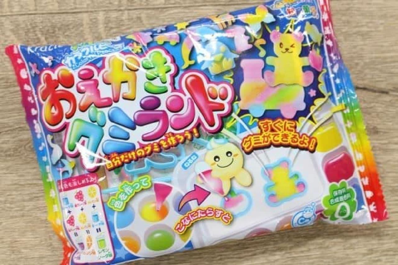 「おえかきグミランド」は、おえかき感覚で様々な色やかたちのカラフルなグミが作れるお菓子