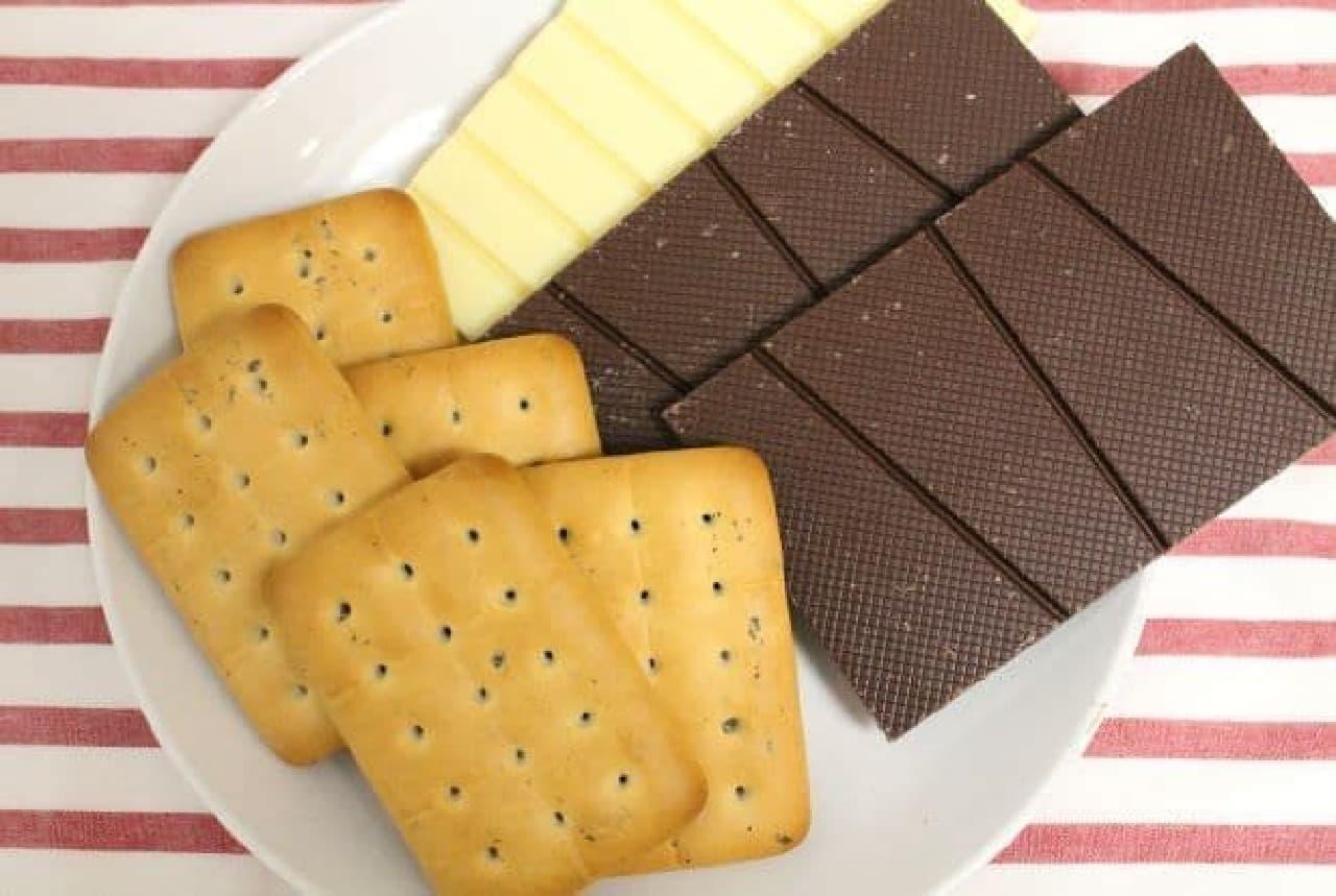 乾パンチョコクランチを作るのに必要な材料