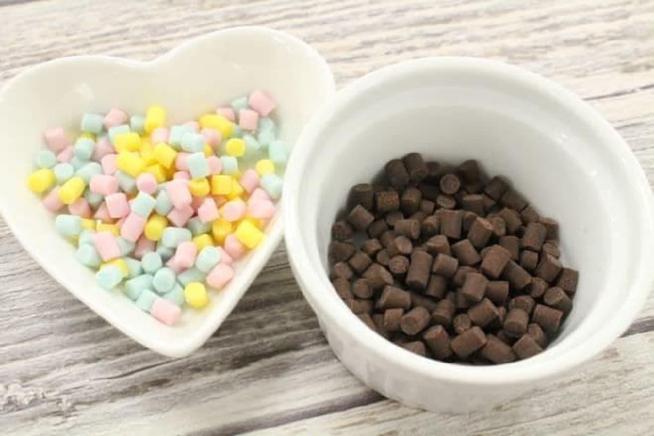 小皿に移したチョコレート
