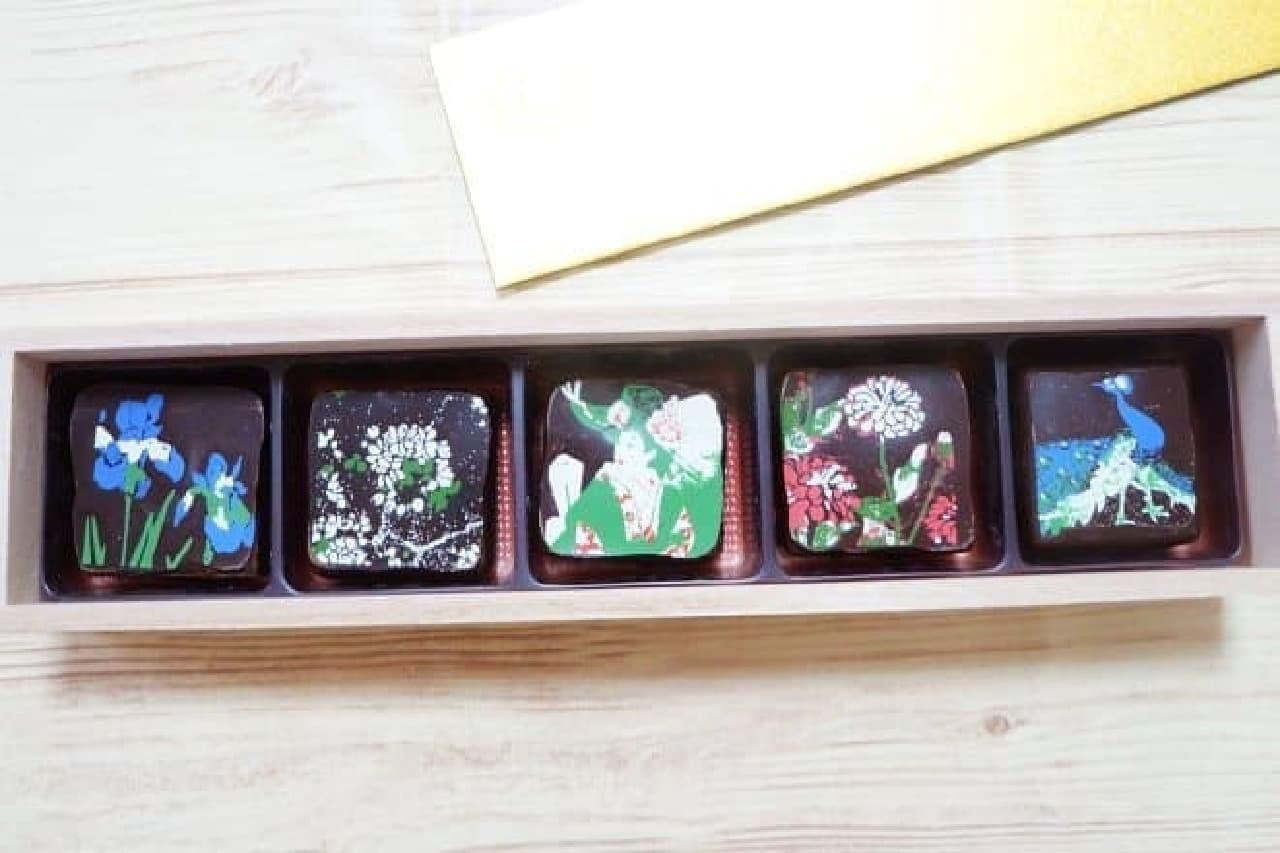 ホテル 雅叙園 東京の天井画ショコラ「竹林」