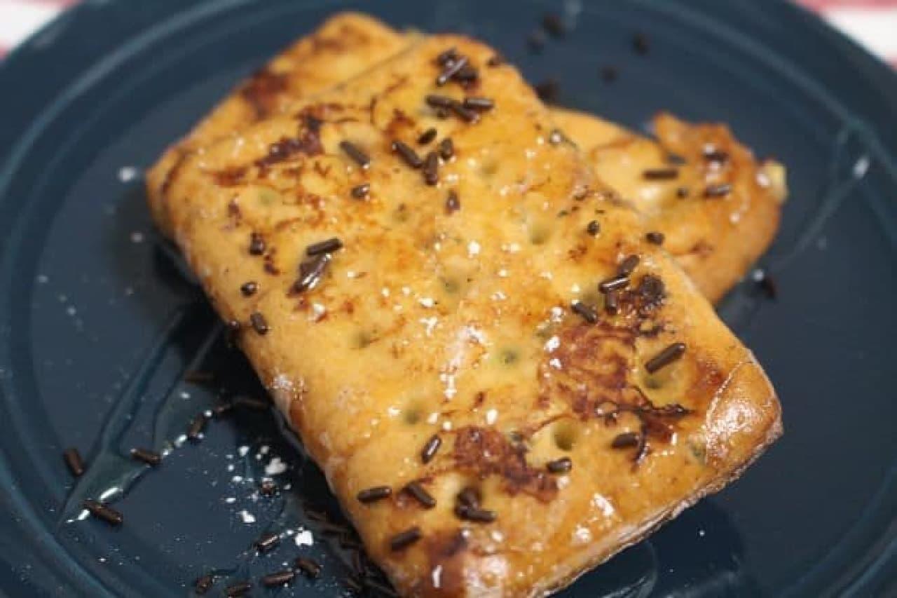 乾パンで作ったフレンチトースト