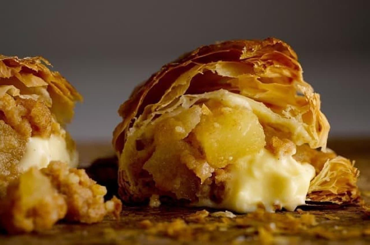 リンゴの「焼きたてカスタードアップルパイ」