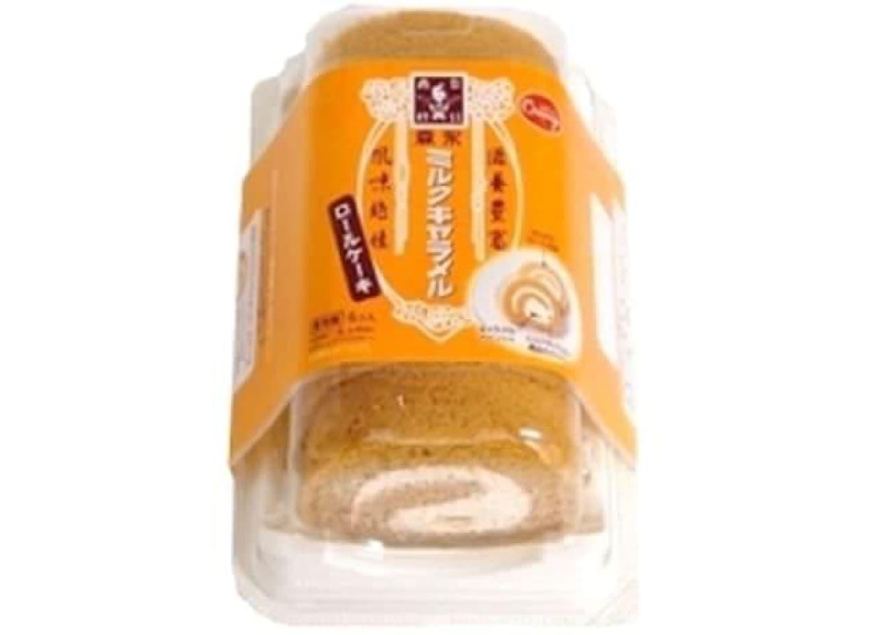森永ミルクキャラメルとのコラボ商品「森永ミルクキャラメルのロールケーキ」