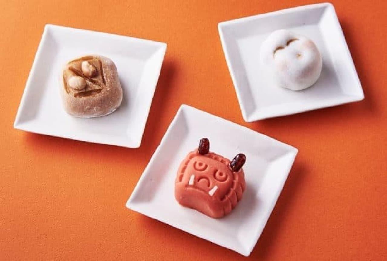 シャトレーゼ 節分和菓子「赤鬼」「お多福」「枡」