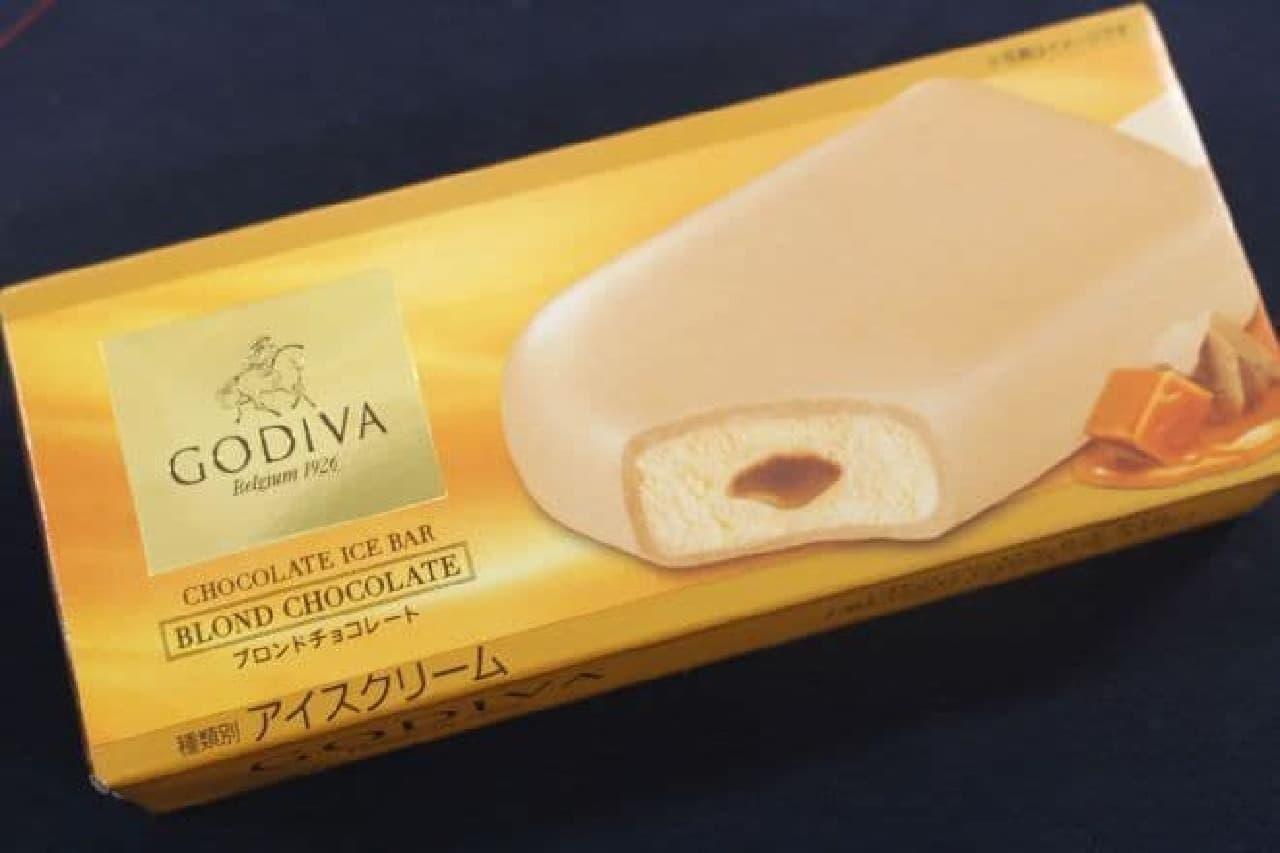 「ゴディバ チョコレートアイスバー ブロンドチョコレート」は「ブロンドチョコレート」が使用されたアイスバー