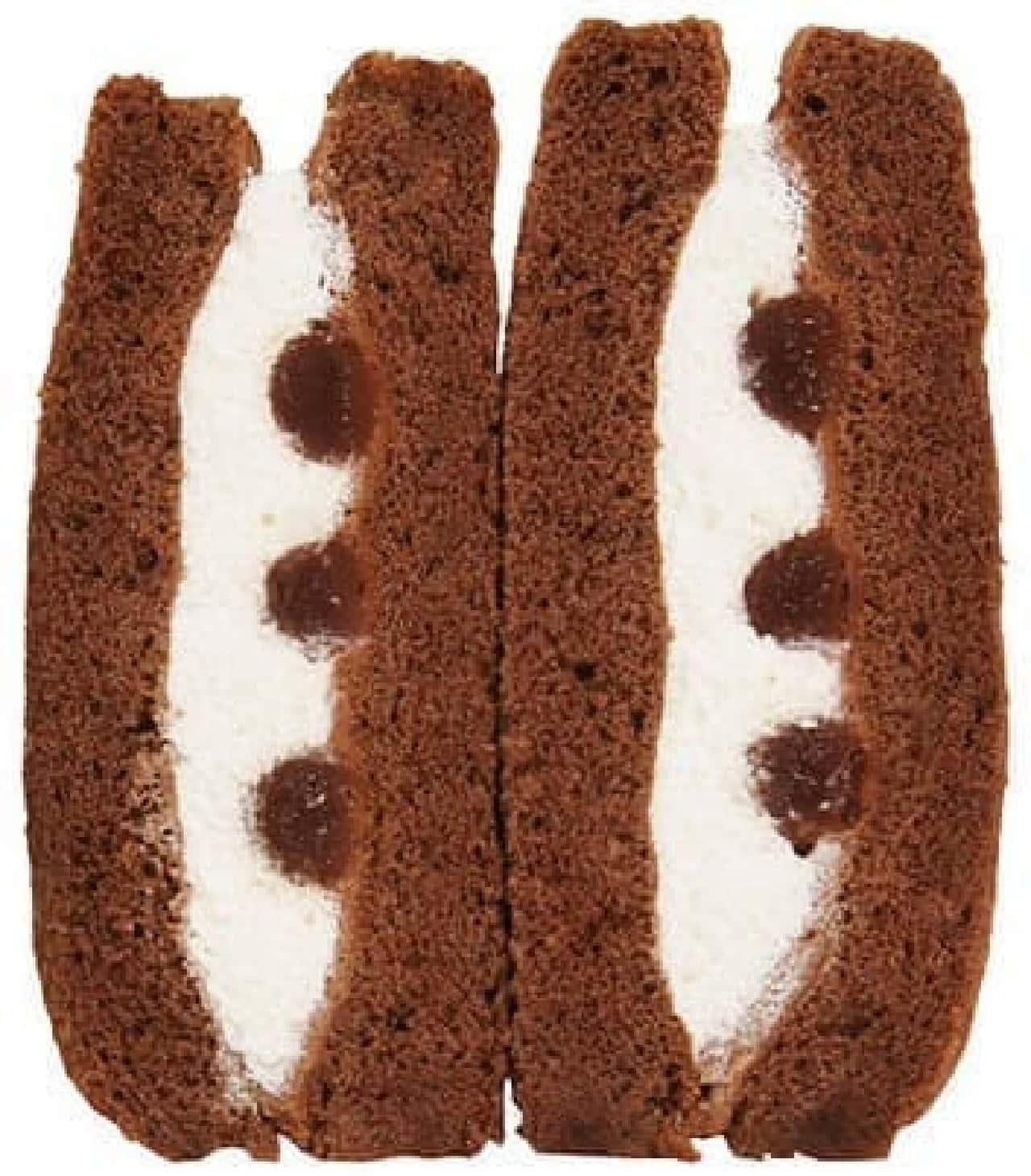 ファミリーマート「生チョコのケーキサンド」