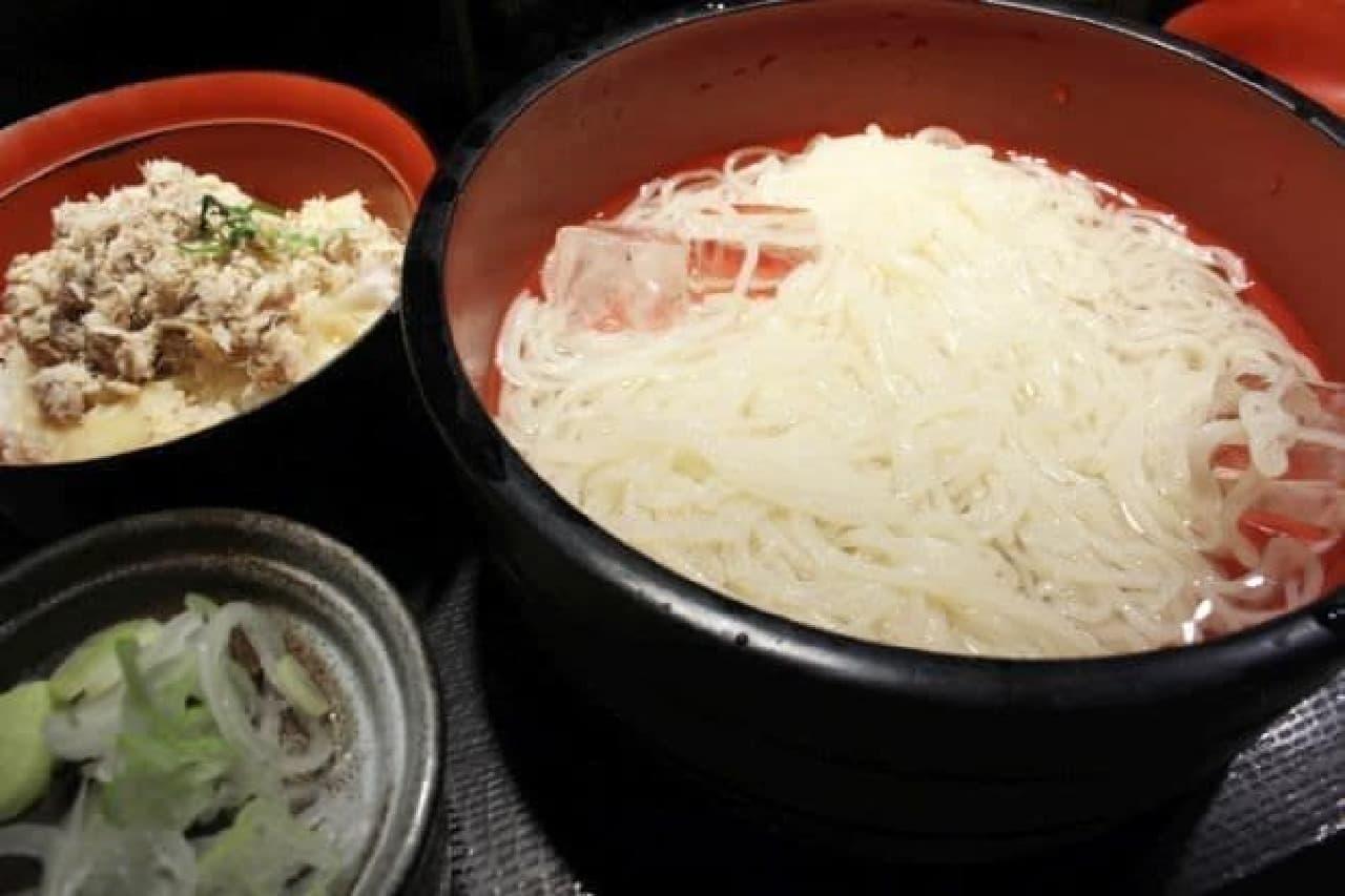 「さ竹」恵比寿店の激安「生冷麦」