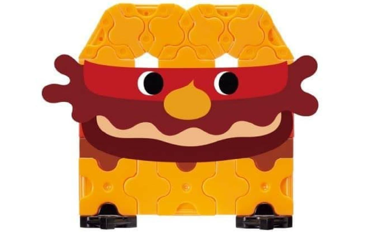 「キッズセット×LaQ(ラキュー)」は、ミスタードーナツとモスバーガーのコラボレーション企画「MOSDO!」の商品