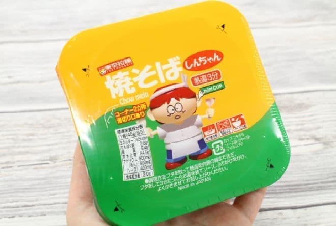 東京拉麺から販売されている「しんちゃん 焼そば」