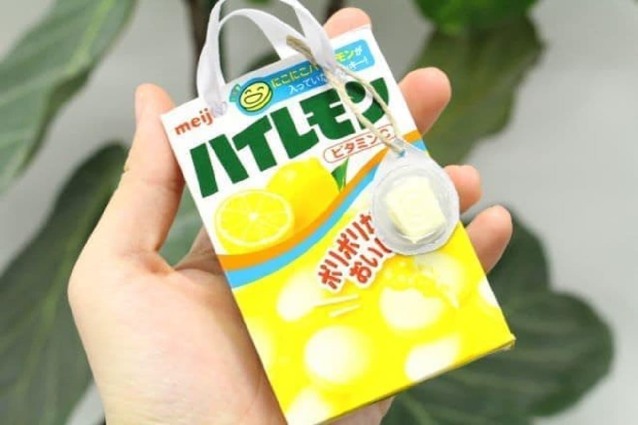「ハイレモン」でつくったメッセージチャーム付きミニバッグ
