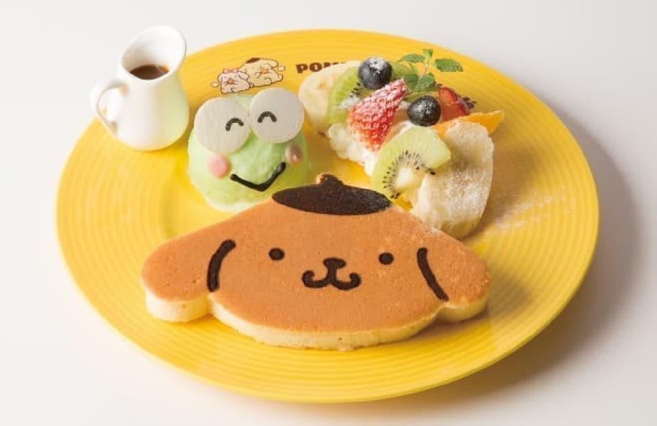 ポムポムプリンカフェ「ポムポムプリンパンケーキ けろっぴといっしょ♪」