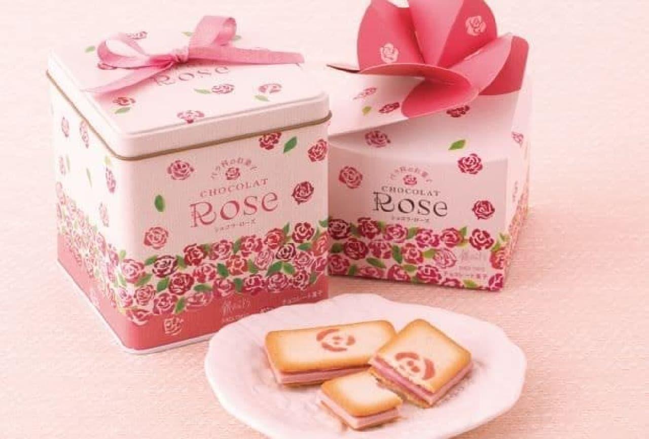 「バラ科のお菓子 ショコラ・ローズ」は、本物のバラの花からうまれたバラのスイーツ