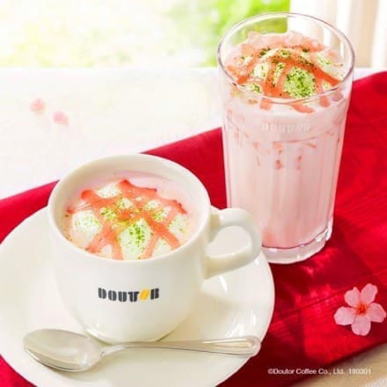 ドトールコーヒー「桜香る ホワイトショコラ・ラテ」
