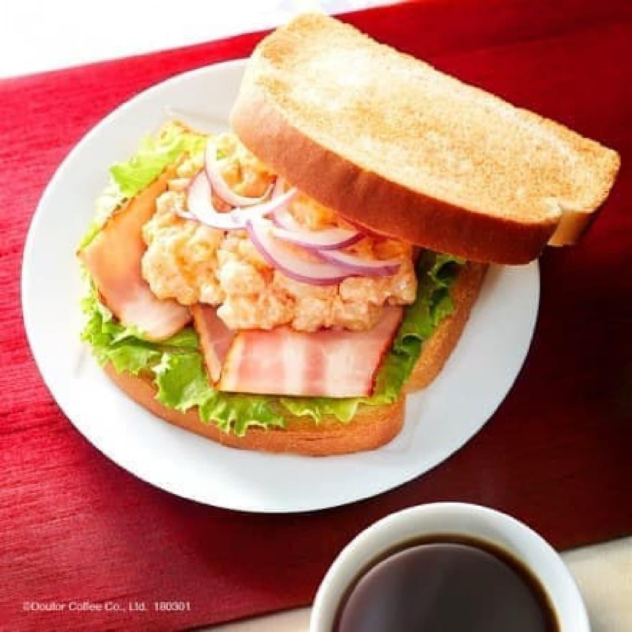 ドトールコーヒー「朝カフェ・セットB たらもサラダ」