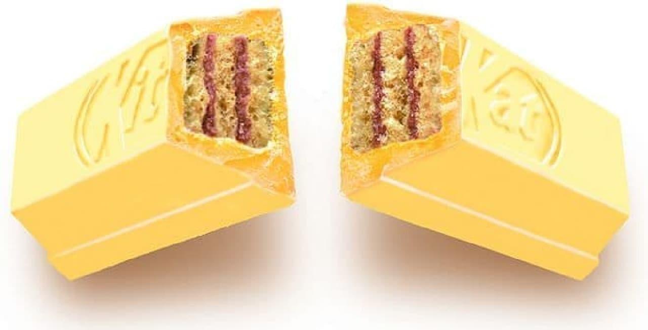 「キットカット 温泉饅頭味」は、温泉土産の絵地番である「温泉饅頭」がイメージされたキットカット