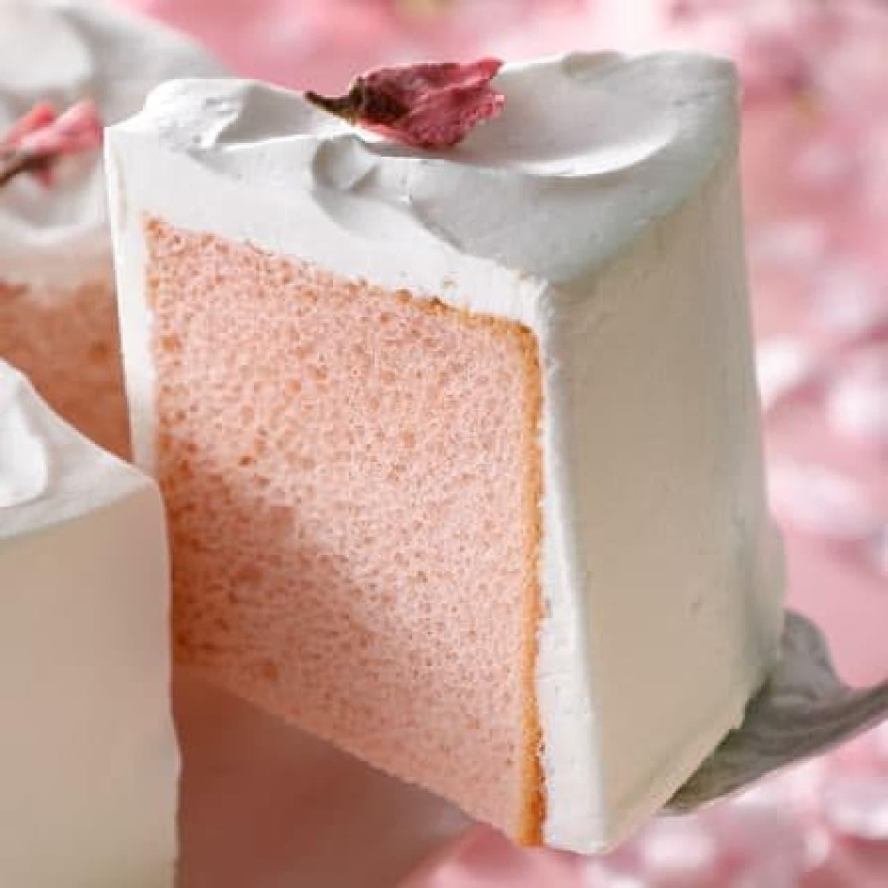 スターバックス「さくらシフォンケーキ」