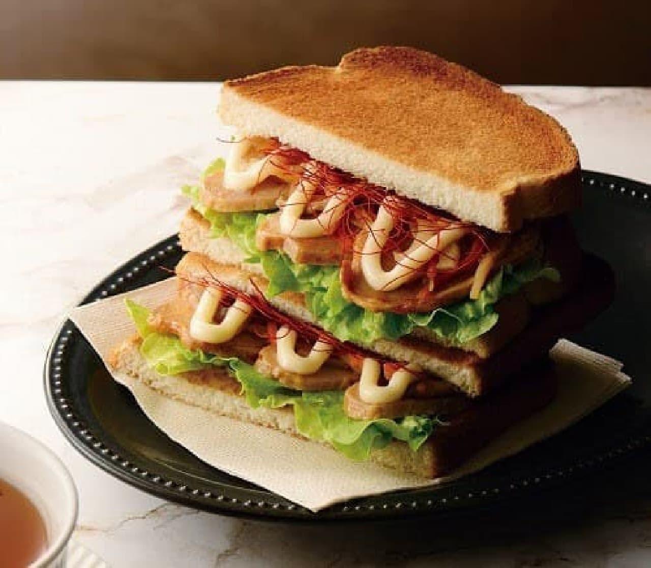 カフェ・ド・クリエ「トーストサンド 日南どりの鶏ごぼう」