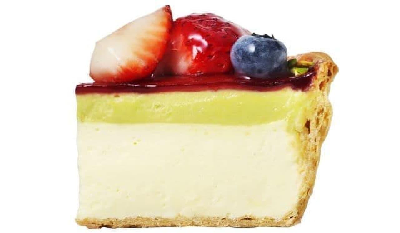 「いちごとピスタチオのチーズタルト」は、ベリーとピスタチオが使用されたチーズタルト