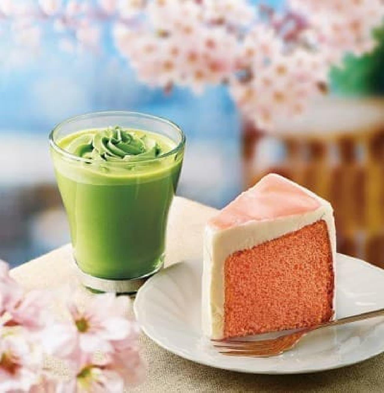 カフェ・ド・クリエ「桜のシフォンケーキ」