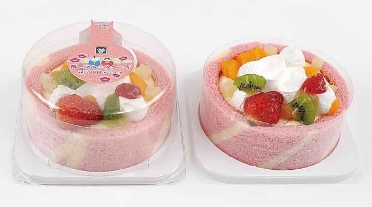 ミニストップ「桃色フルーツケーキ」