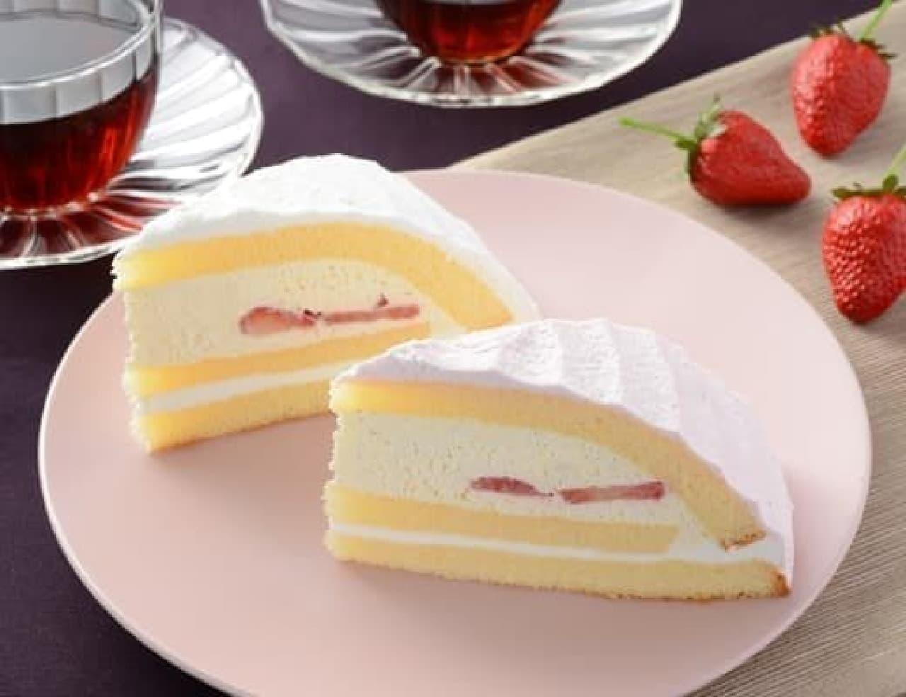 ローソン「苺のボンブケーキ」