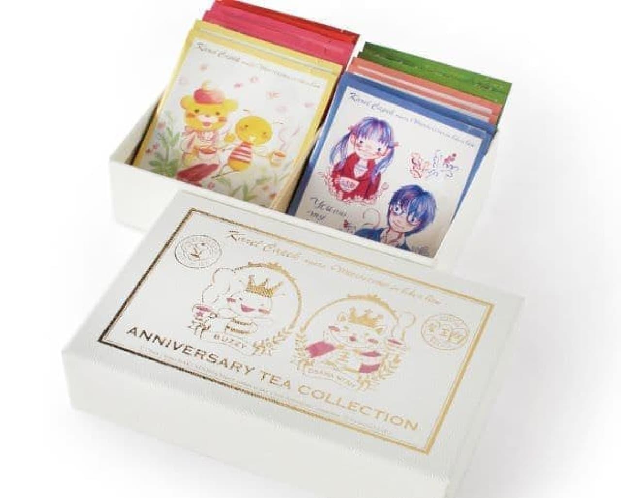 「ANNIVERSARY TEA COLLECTION」は、パッケージに『3月のライオン』の人気キャラクターが描かれたティーバッグ