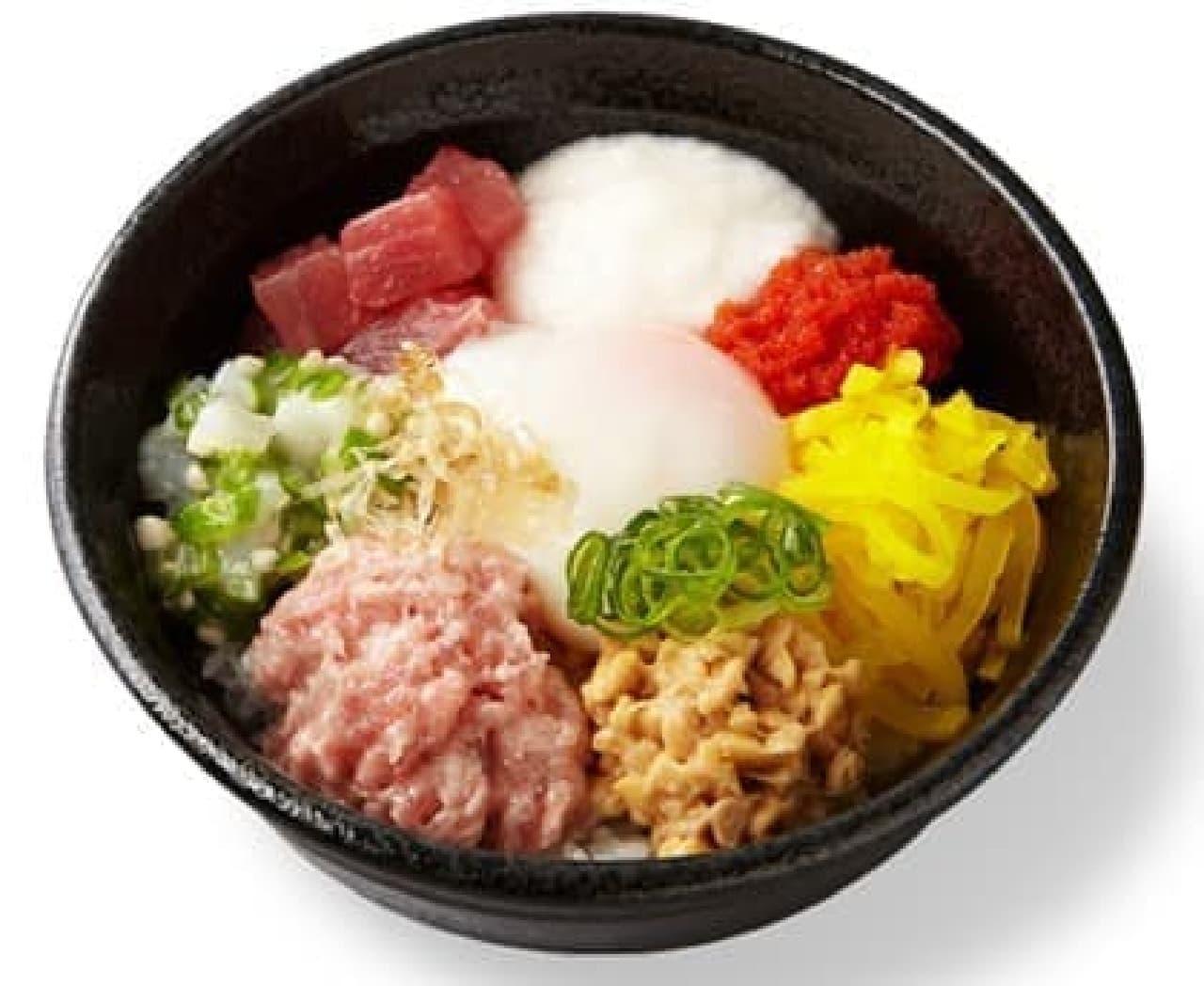 かっぱ寿司「とろネバ 彩り丼」