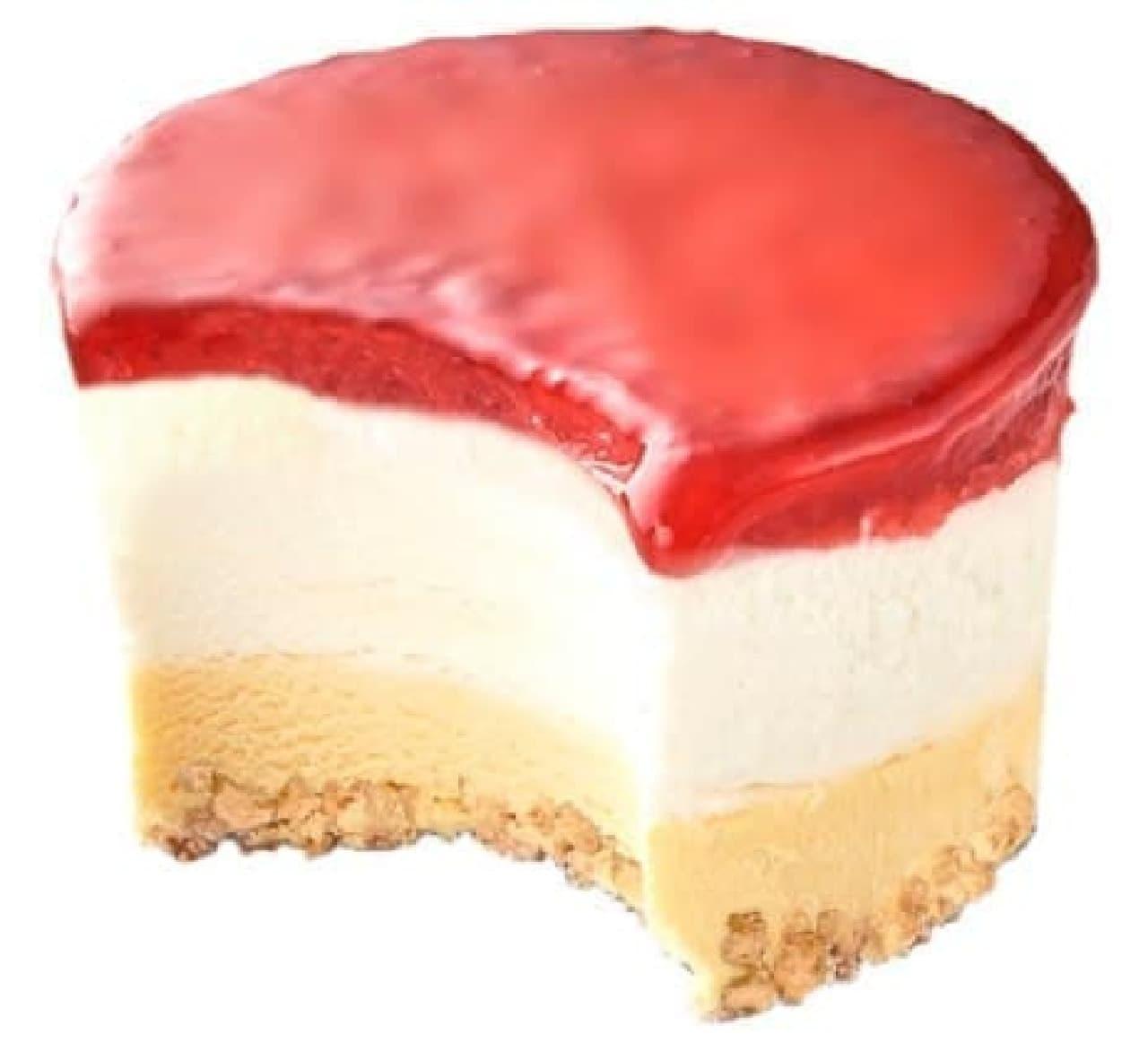 シャトレーゼ「DESSERT ICE(デザートアイス) 北海道産生クリームの苺ショートケーキ」