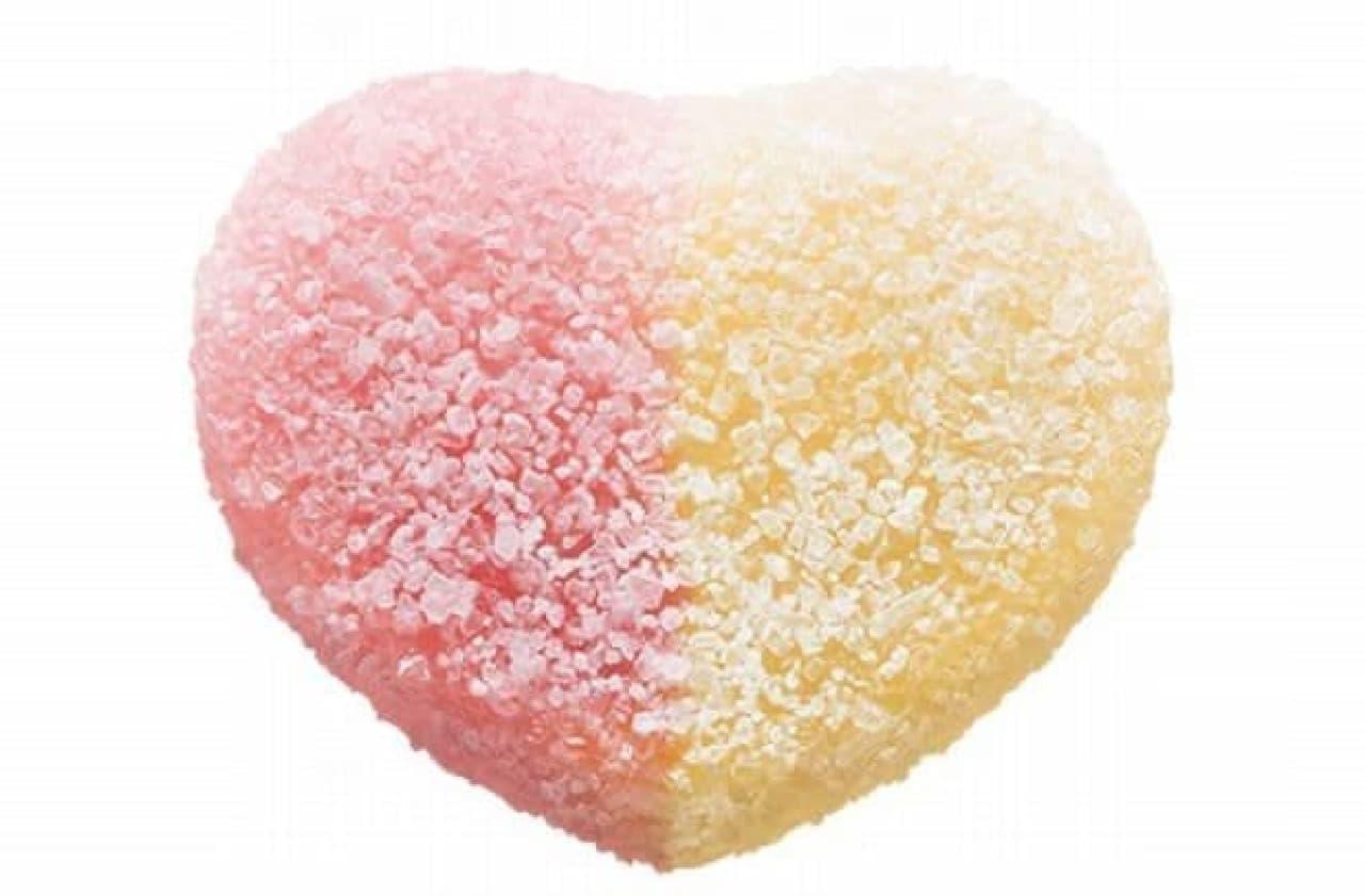 「ピュレグミ アセロラソーダ」は、2種類の味(アセロラ、ソーダ)が組み合わされたグミ