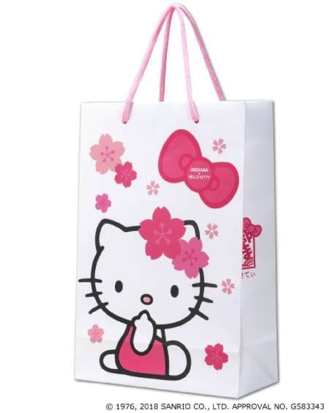 限定デザインのさくらのりぼんキティ手提げ袋