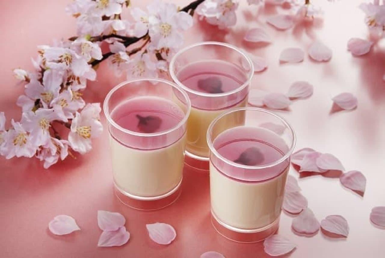 焼きたてチーズタルト専門店PABLO「とろけるチーズプリン‐桜」
