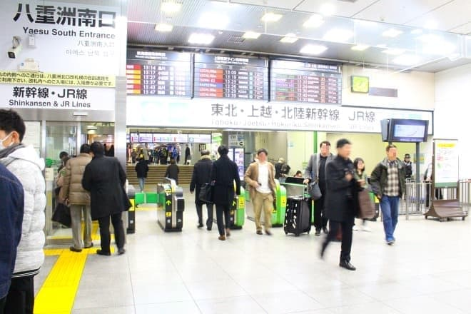 JR東京駅の八重洲南口