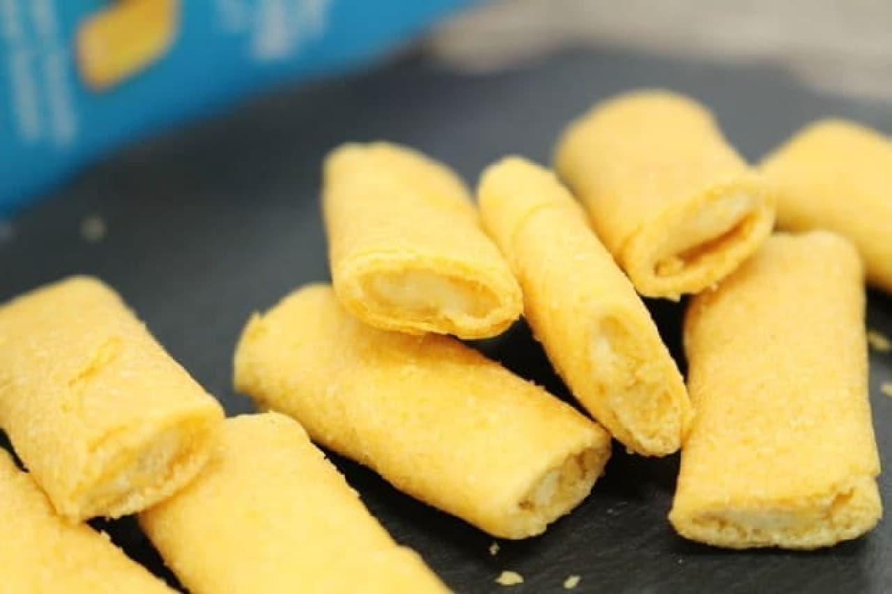 サクサクとした薄い生地でチーズフィリングを包んだクレープ「ガヴォット ミニクレープ」