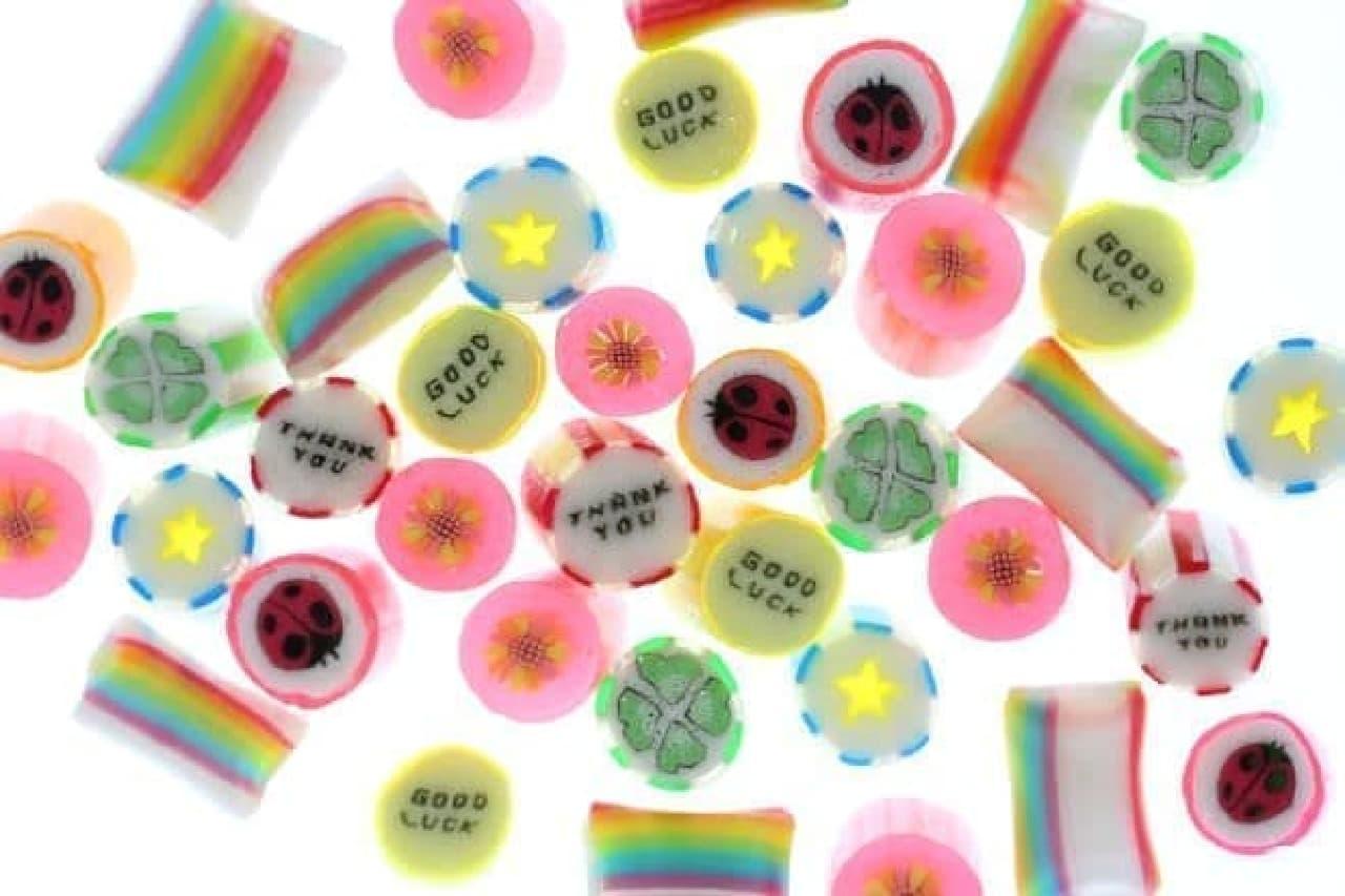 「スペシャルサンキューMIX」は、「THANK YOU」や「GOOD LUCK」の文字が入ったキャンディ