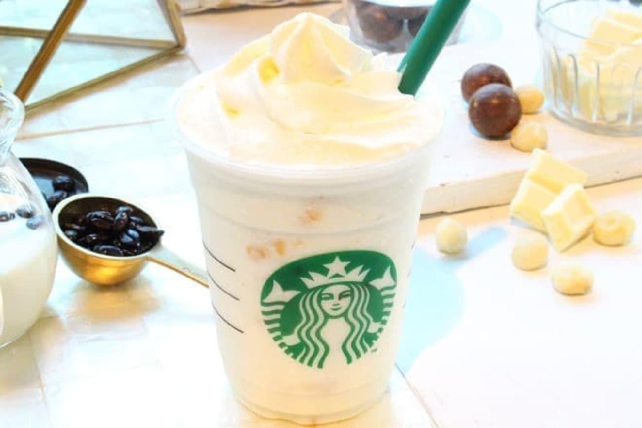 スターバックス「ホワイト ブリュー コーヒー&マカダミア フラペチーノ」