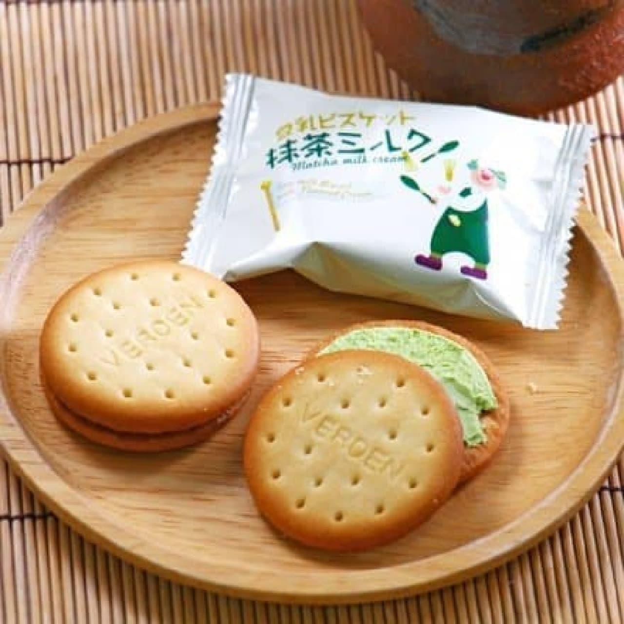 カルディコーヒーファーム「オリジナル 豆乳ビスケット 抹茶ミルククリーム」