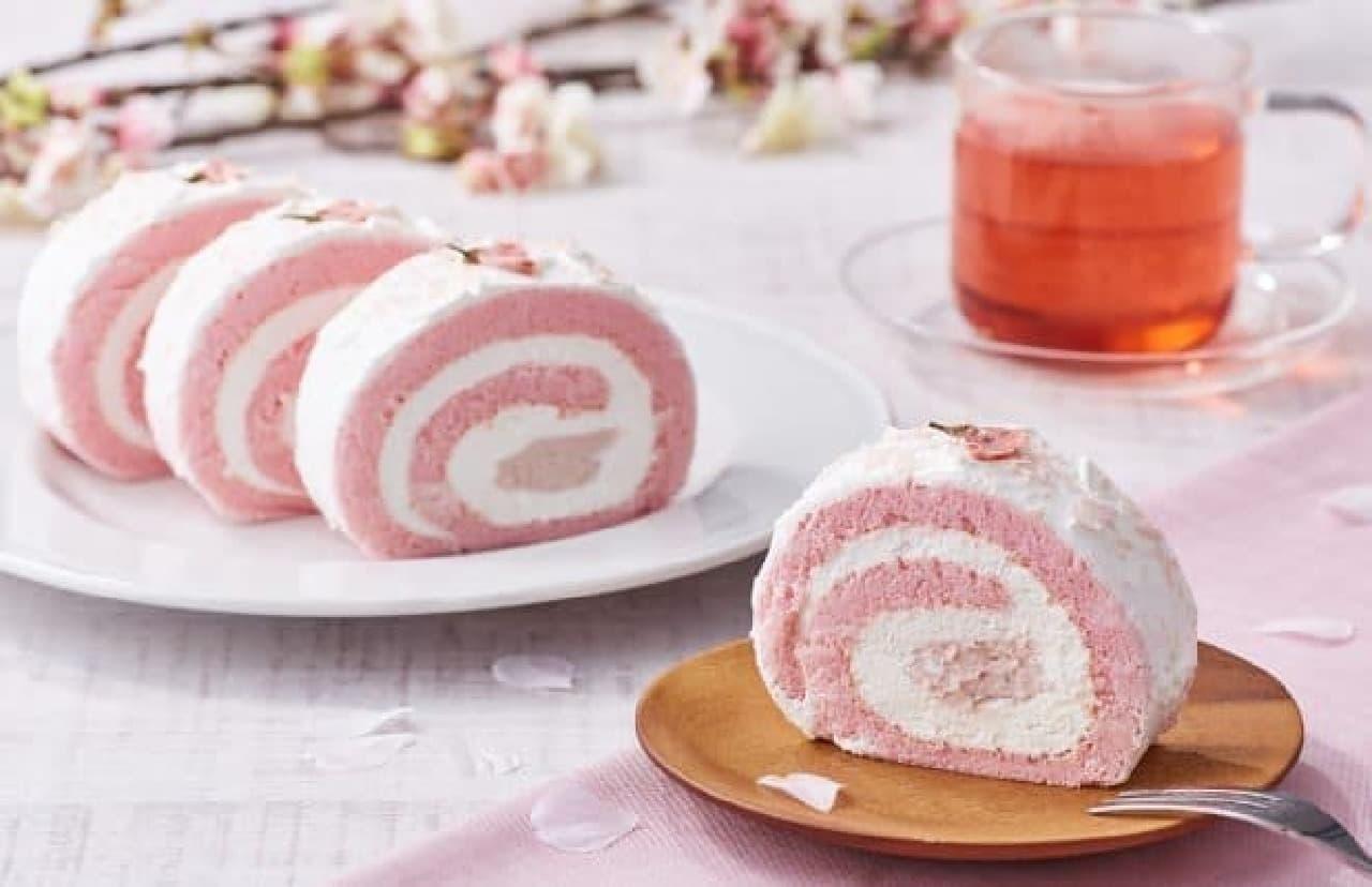 フレッシュネスバーガー「桜のロールケーキ」