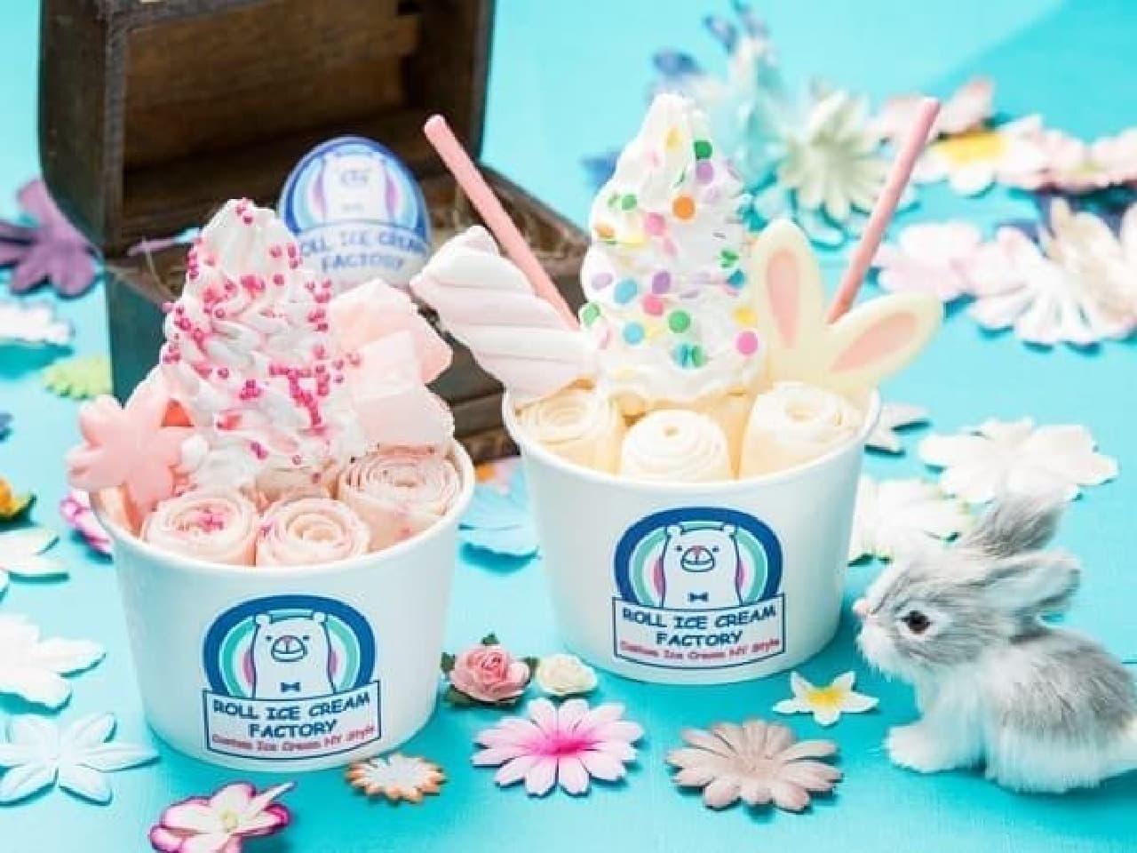 ロールアイスクリームファクトリーのロールアイスクリーム