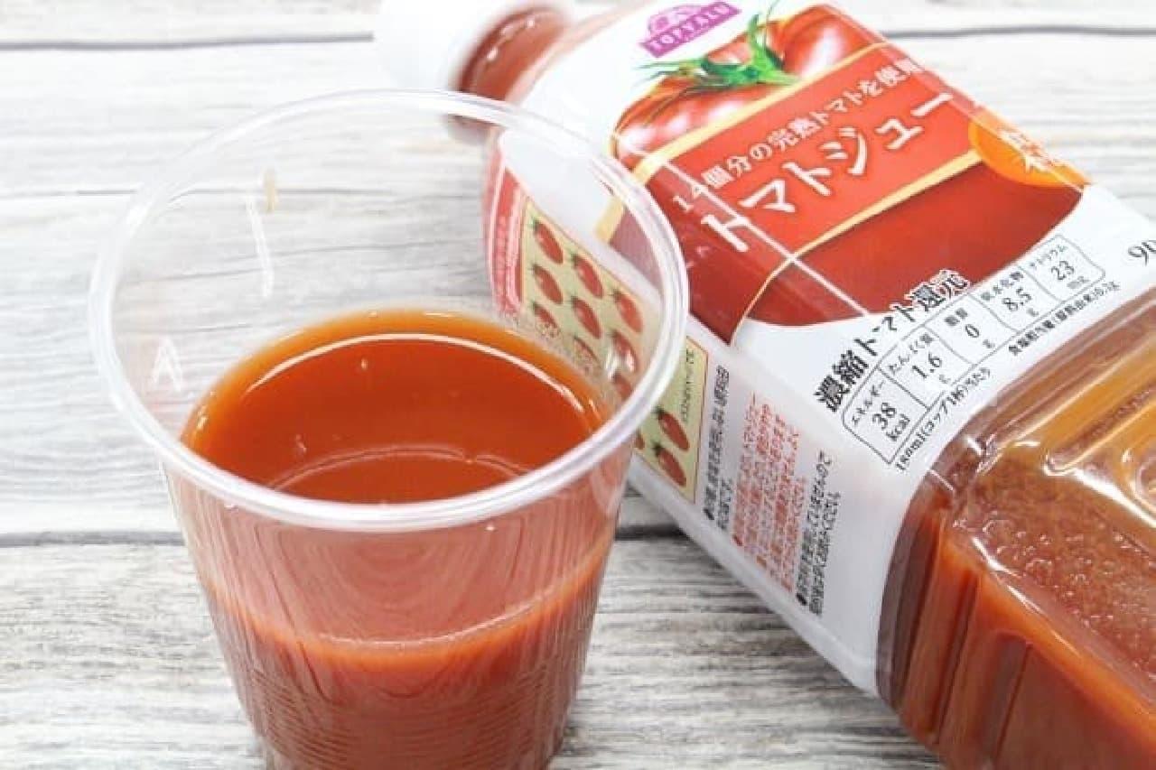 トップバリュ 14個分の完熟トマトを使用した トマトジュース 食塩不使用