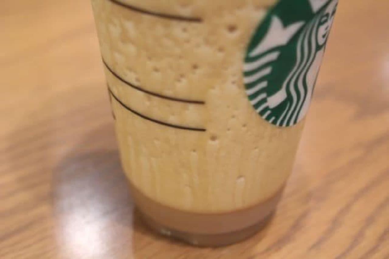 コーヒーフラペチーノをカスタマイズしたビバレッジ