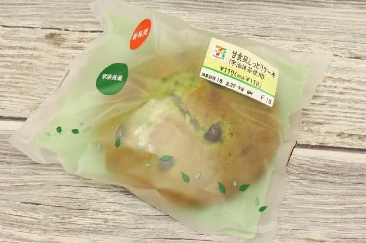 セブン-イレブン「甘食風しっとりケーキ(宇治抹茶使用)」