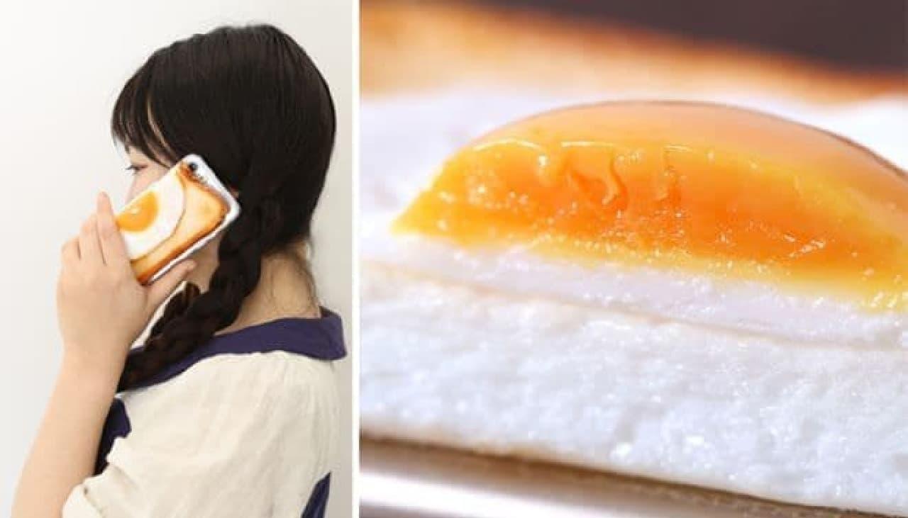 iPhone 8/7専用 食品サンプルカバー「目玉焼きトーストケース」