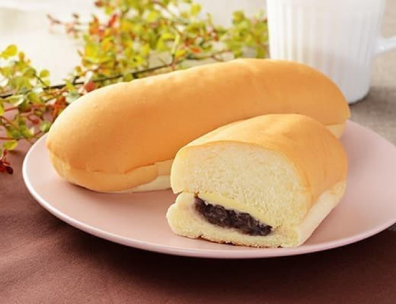 ローソン「もっちりとしたコッペパン 北海道産小豆の粒あん&マーガリン」